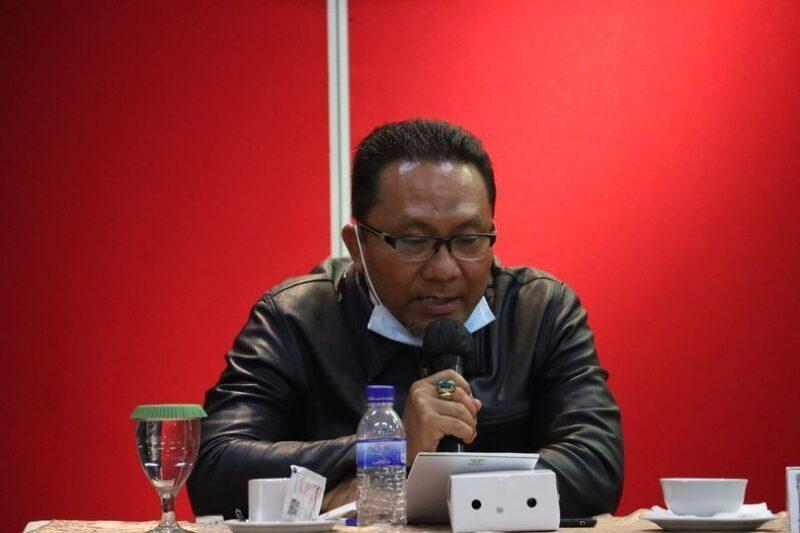 FOTO : Kuasa Hukum KPU Provinsi Jambi Syahlan Samosir dalam sidang Mahkamah Konstitusi (MK), Senin (01/02/21)/Ist