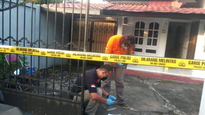 Lokasi Penemuan Mayat Wanita di Kelurahan Lebak Bandung, Kota Jambi pada Kamis (13/5/2021) pagi. FOTO : jambi.tribunnews.com.