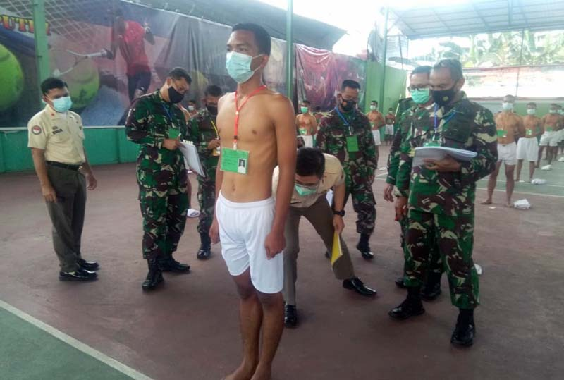 FOTO : 135 Calon Tamtama PK Gelombang I Subpanda Korem 042/Gapu Ikut Seleksi Tingkat Pusat.