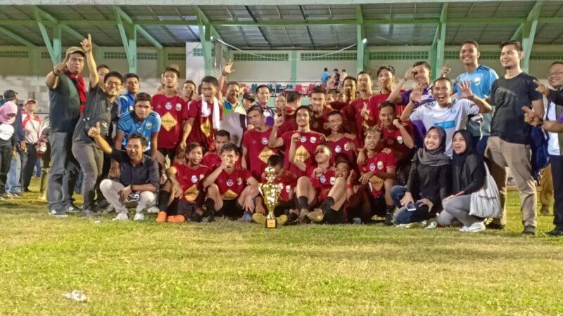 FOTO : Final Pra Porprov Jambi 2020 Muaro Jambi vs Kerinci di Stadion Bakti Karya Kuala Tungkal Kabupaten Tanjung Jabung Barat, Selasa (26/11/19) malam.
