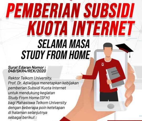 FOTO : Tangkapan Layar Program Pemverian Subsidi Kuota Internet Selama Masa SFH yang Beredar di Pesan WhatsApp.