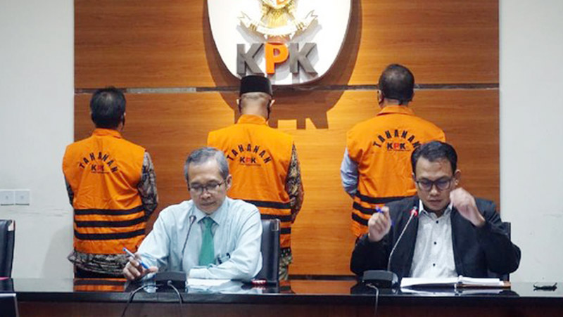 FOTO : KPK Menggelar Pres Rilis di Gedung KPK, Jalan Kuningan Persada, Jakarta Selatan, Selasa (23/06/20).