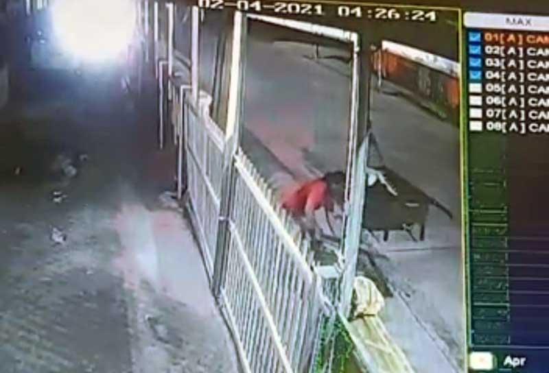 Tangkapan layar dari rekaman CCTV di Jalan Jenderal Sudirman Dekat Kantor Bupati Tanjab Barat. Foto: Istimewa