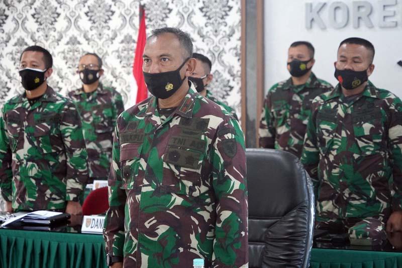 Danrem 042/Gapu Ikuti Apel Komandan Satuan Kodam II/Sriwijaya, Senin (30/03/21).