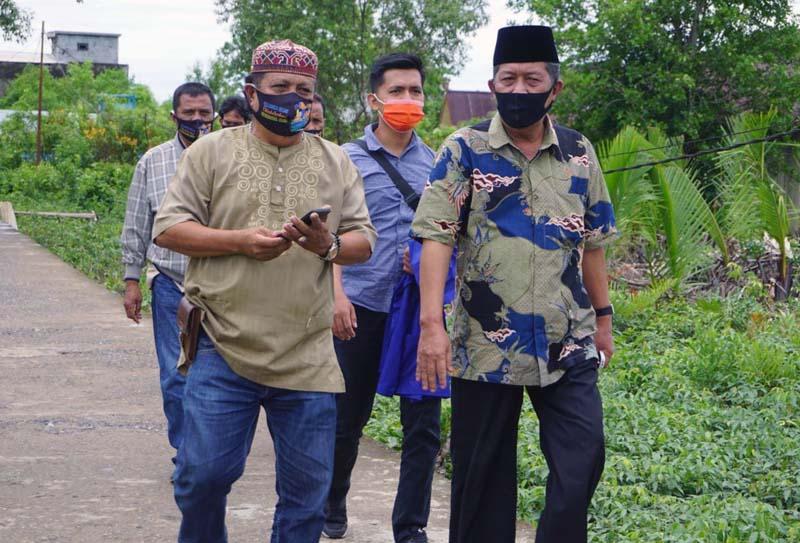 FOTO : Kiyai Abdullah Sani Ketika Tiba di Kecamatan Mendahara Ilir, Kabupaten Tanjung Jabung Timur, Jumat (09/10/20).