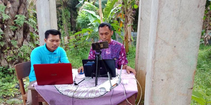 FOTO : Dokumentasi Humas Tanoto Pembelajaran Jarah Jauh Akibat Covid-19