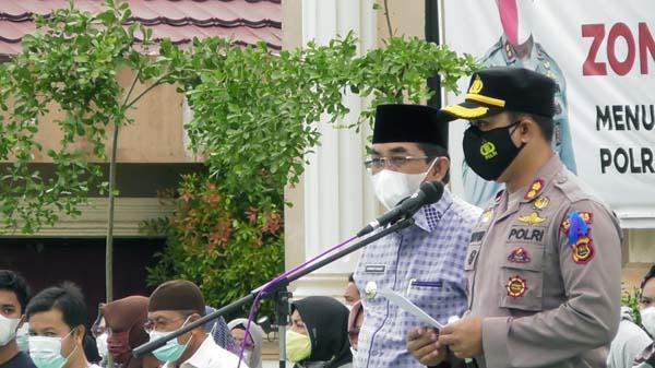 Bupati dan Kapolres Tanjabbar Pimpin Apel Gelar Pasukan OPS Keselamatan Siginjai 2021, Senin (12/04/21)