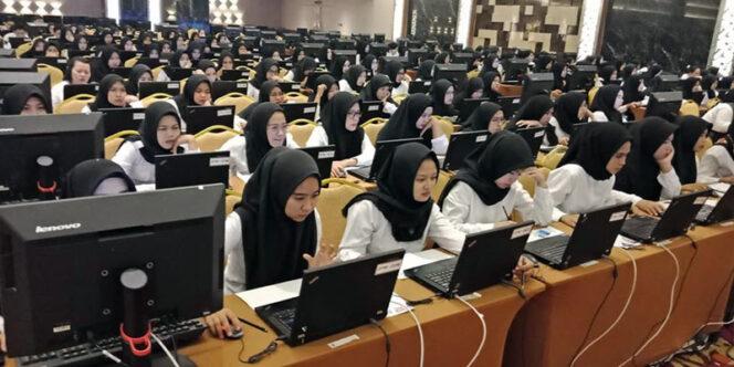 FOTO : Pelaksanaan Ujian SKD CPNS Tanjung Jabung Timur hari Terakhir di Lt. 5 BW Luxury Hotel Jambi, Sabtu, (28/02/20) lalu /Sumber Foto : UPT BKN Jambi