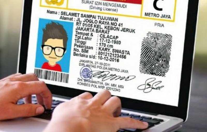 Syarat, Cara dan Biaya Pendaftaran Buat SIM Online . FOTO : Istimewa