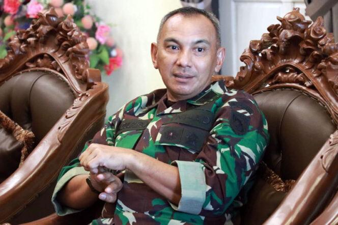 FOTO : Komandan Korem 042/Garuda Putih Kolonel Kav M. Zulkifli Saat Kunker Ke Kabupaten Tanjab Barat, Rabu (06/05/20).