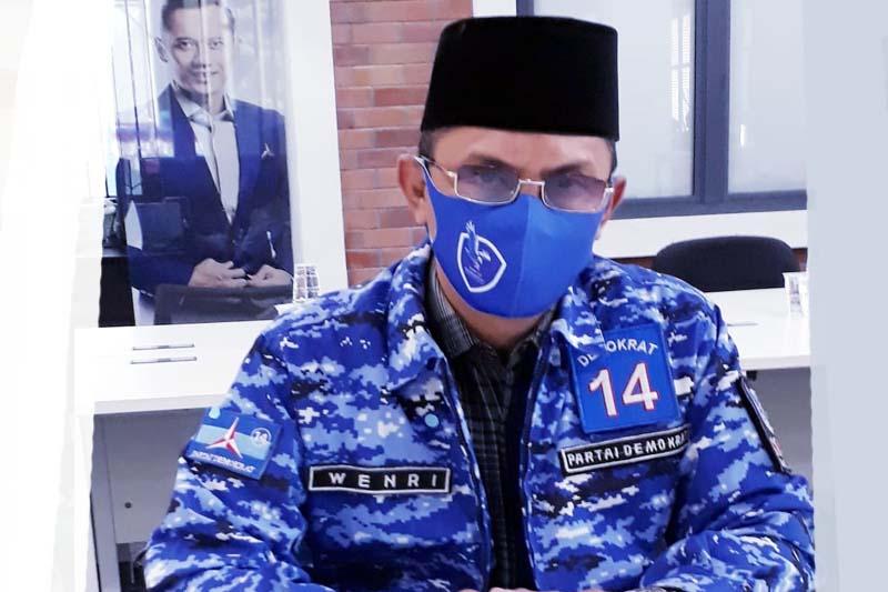 FOTO : Wendri Narda, S.Hut, Sekretaris DPC Partai Demokrat Kabupaten Tanjab Barat