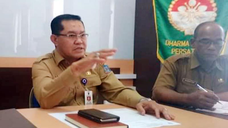 FOTO : Kepala Dinas Tenaga Kerja Kabupaten Tanjung Jabung Barat Dianda Putra, SSTP, M.Si