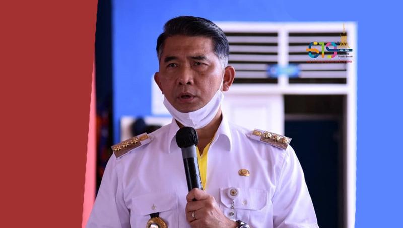 FOTO : Wali Kota Jambi Dr. H. Syarif Fasha, ME selaku Ketua Gugus Tugas Penanganan Covid-19 Kota Jambi