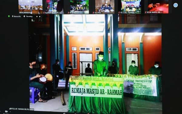 FOTO : Salah Satu Peserta Gran Final Festival Arakan Sahur Online secara virtual Remaja Masjid Ar Rahmah
