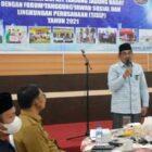 Bupati H. Anwar Sadat Membuka Rapat Kerja Pemkab Tanjab Barat dengan Forum TJSLP di Rumah Dinas Bupati, Selasa (21/9/21). FOTO : PROKOPIM