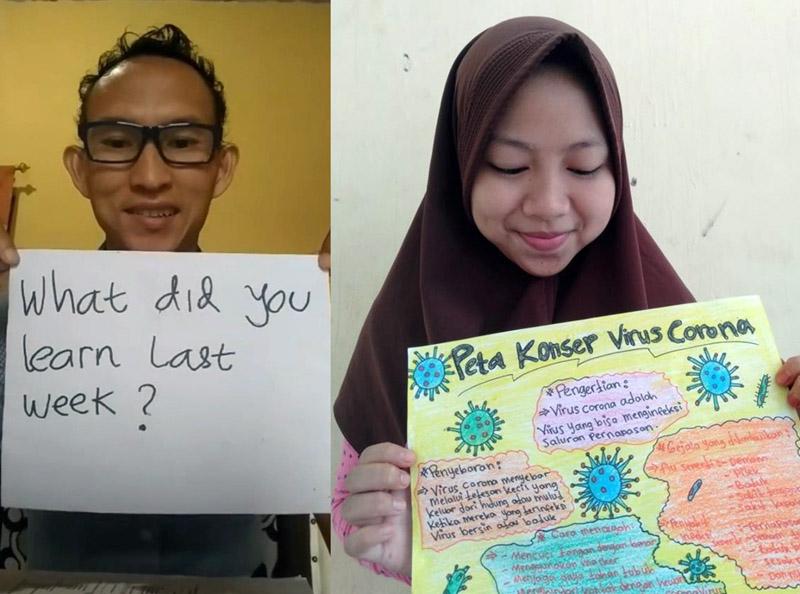 FOTO : Seorang Guru dan Siswa di Batang Hari Jambi Saling Berinteraksi dalam Pembelajaran Online yang Dilakukan Beberapa Waktu Lalu.