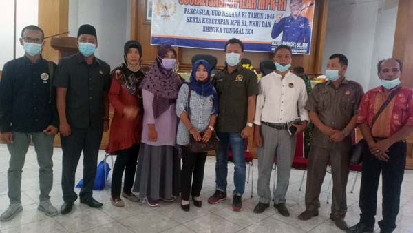 Anggota DPR/MPR RI Fraksi Nasdem, Hasbi Ansori pada Acara Sosialisasi Empat Pilar MPR di Muaro Jambi. FOTO : Ist