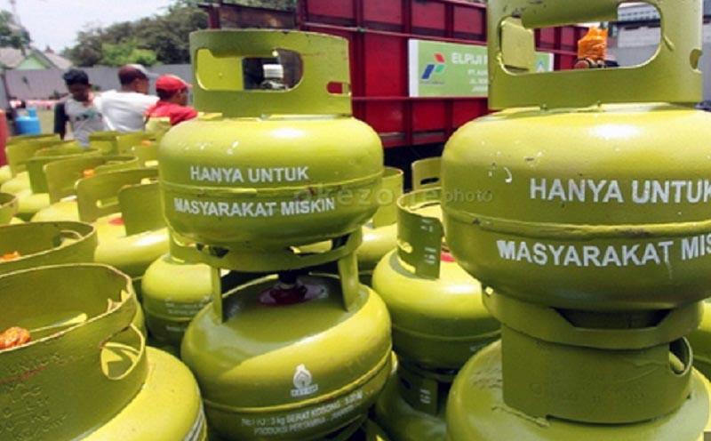 FOTO : Ilustrasi Gambaran Pangkalan Gas LPG 3 KG yang Rentang Diselewengkan