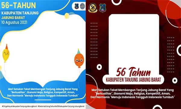 Ini Link Twibbon HUT Kabupaten Tanjab Barat ke-56. GRAFIS : ISTIMEWA