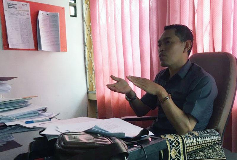 FOTO : Komisioner KPU Sosialisasi, Pendidikan Pemilih, Partisipasi Masyarakat dan SDM KPU Tanjab Barat, M. Ilyas.