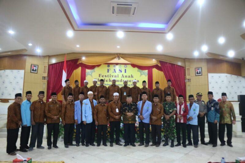 FOTO : Pembukaan FASI IX di Aula Balai Pertemuan Kantor Bupati, Kamis (17/10/19).