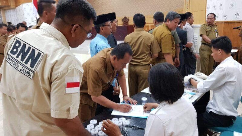 FOTO : Kegiatan Tes Urine ASN Tanjung Jabung Barat, Senin (11/11/19)