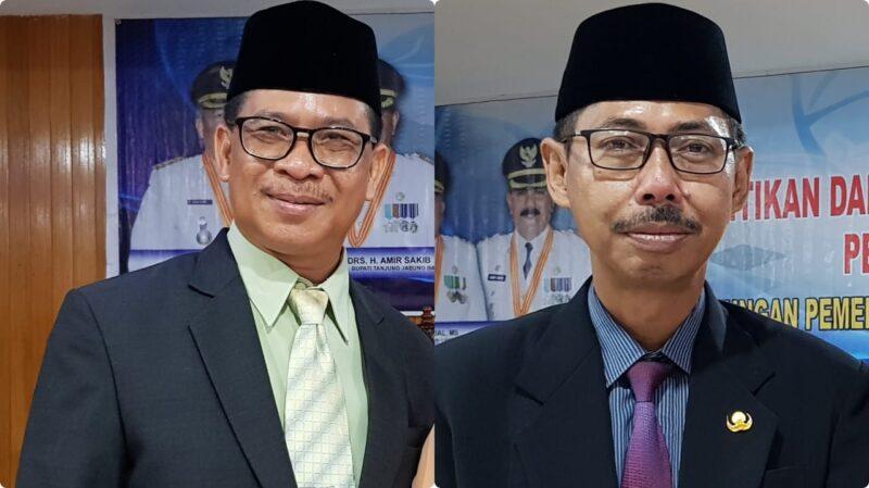 FOTO : H. R. Gatot Suwarso, SH, MM Kepala BKPSDM Tanjab Barat (kiri), Drs. Encep Jarkasih Kepala Inspektorat Tanjab Barat (kanan).