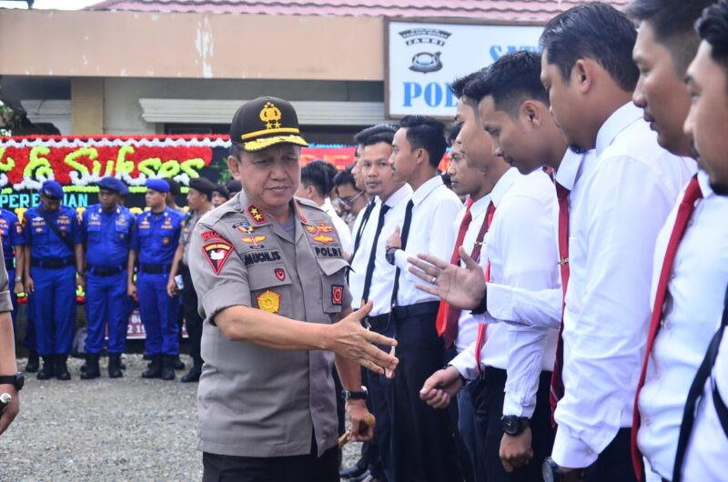 FOTO : Kapolda Jambi Irjen Pol Drs. Muchlis, AS, MH Saat Kunjungan Ke Polres Tanjab Barat
