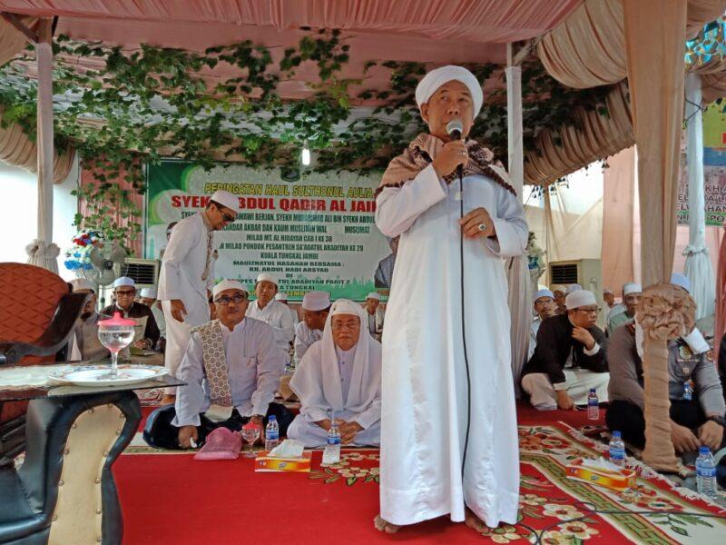 FOTO : Haul Syekh Abdul Qadir Jailani Pondok Pesantren Assa'adatul Abadiyah Parit II Kelurahan Patunas Kecmatan Tungkal Ilir, Minggu (15/12/19)