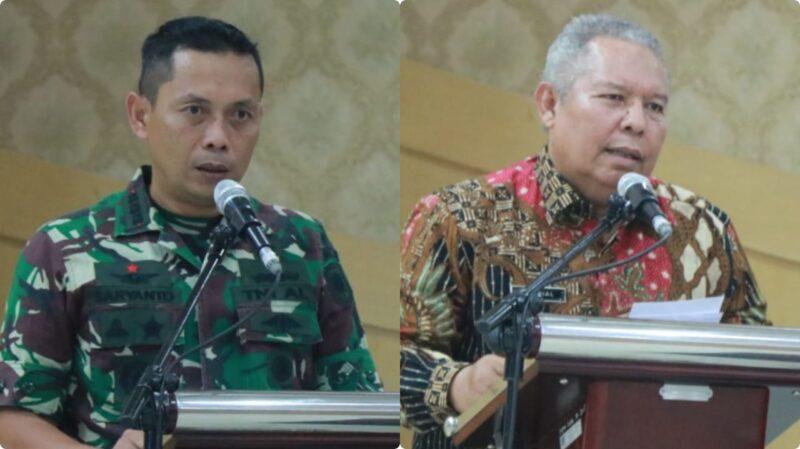 FOTO : Bupati Tanjab Barat Dr. H. Safrial dan Komandan Pangkalan AL Palembang Kolonel Saryanto
