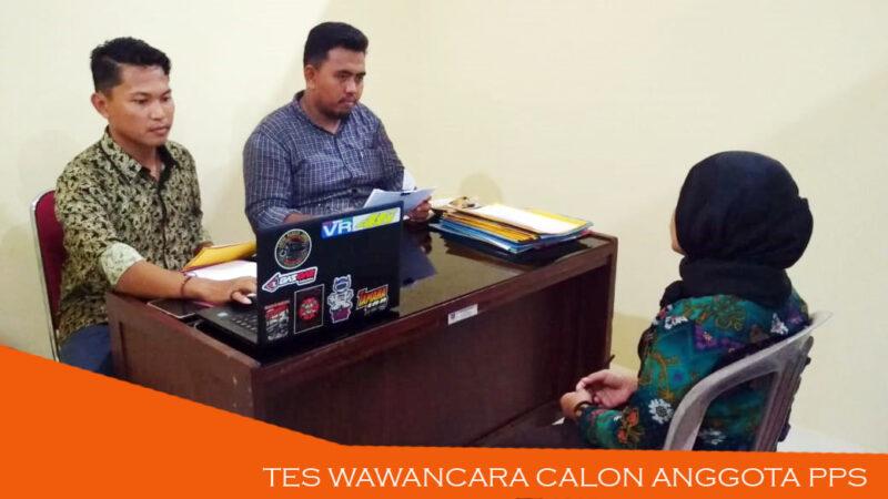 FOTO : Pelaksanaan Seleksi Tes Wawancara Calon Anggota PPS yang Dilaksanakan oleh KPU Tanjab Barat selama 3 hari dari 11 hingga 13 Maret 2020/Foto.Dok.KPU-Tjb