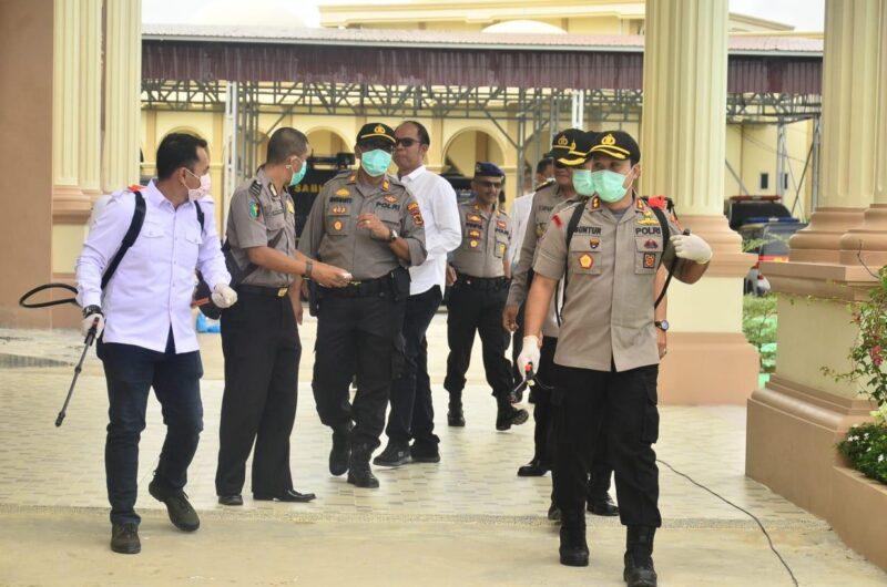 FOTO : Tanjung Jabung Barat ABKP Guntur Saputro, S.IK, MH bersama Jajaran