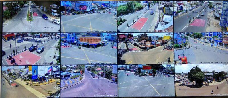 FOTO : Sejumlah Jalan Di Kota Jambi, Sumber CCTV aplikasi Sikoja Dishub Kota Jambi, Kamis (26/03/20)