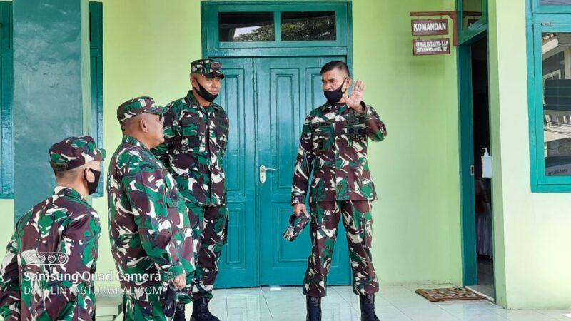 FOTO : Kasdam II/ Sriwijaya Brigjen TNI Mohammad Zamroni, S.IP saat Berdata di Kodim 0419/Tanjab, Sabtu (30/05/20)