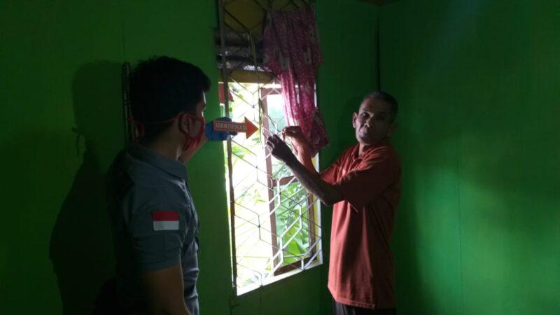 FOTO : Polisi Olah TKP di Rumah Korban