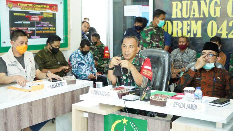 FOTO : Danrem 042/Garuda Putih Brigadir Jenderal (Brigjen) TNI M Zulkifli