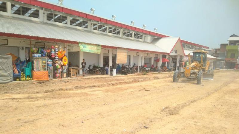 FOTO : Pasar Tradisional Modern di Kecamatan Tebing Tinggi, Kabupaten Tanjab Barat.