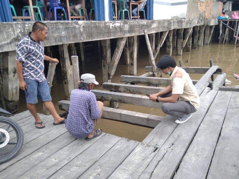 Lokasi Papan Bukian Dermaga Ampera Yang Hilang. FOTO : Polsek KSKP
