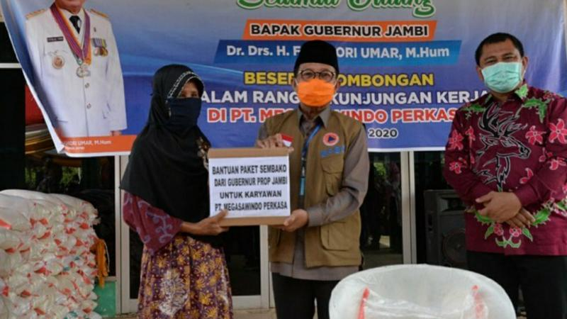 FOTO : Fachrori Saat Kunjungan Kerja ke PT Megasawindo Perkasa, Kecamatan Pelepat Kabupaten Bungo, Kamis (23/07/20)