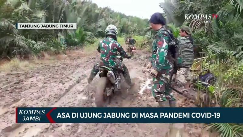 FOTO : Cuplikan Tayangan Karya LKJ Aan Priyanto dari Kompas TV Jambi Juara LKJ TMMD 108 Kodim 0419/Tanjab.
