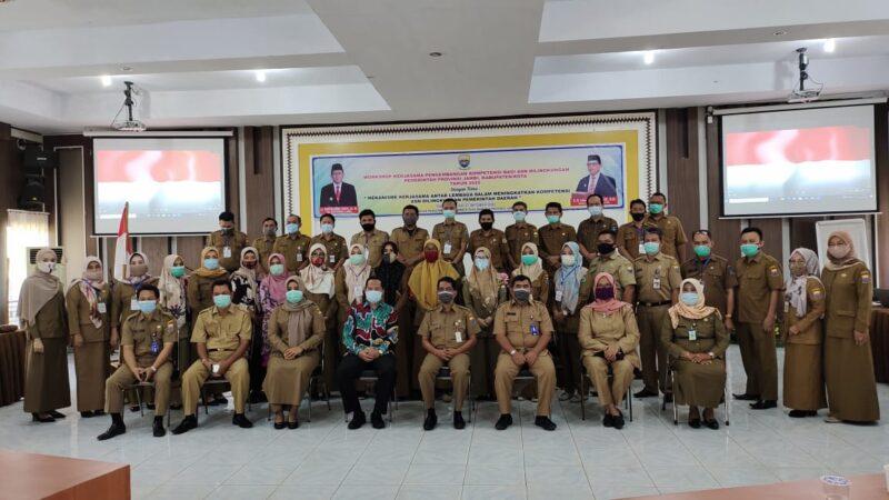 FOTO : Pembukaan Workshop Kerjasama Pengembangan Kompetensi bagi ASN di BPSDM Provinsi Jambi, Selasa (27/10/20)