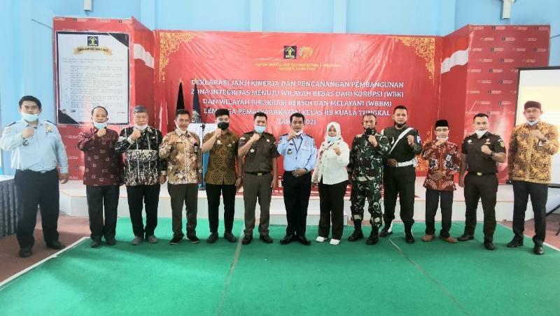 FOTO : LAPAS Kuala Tungkal Deklarasikan Pencanangan ZI Menuju WBK/WBBM, Kamis (25/02/21).