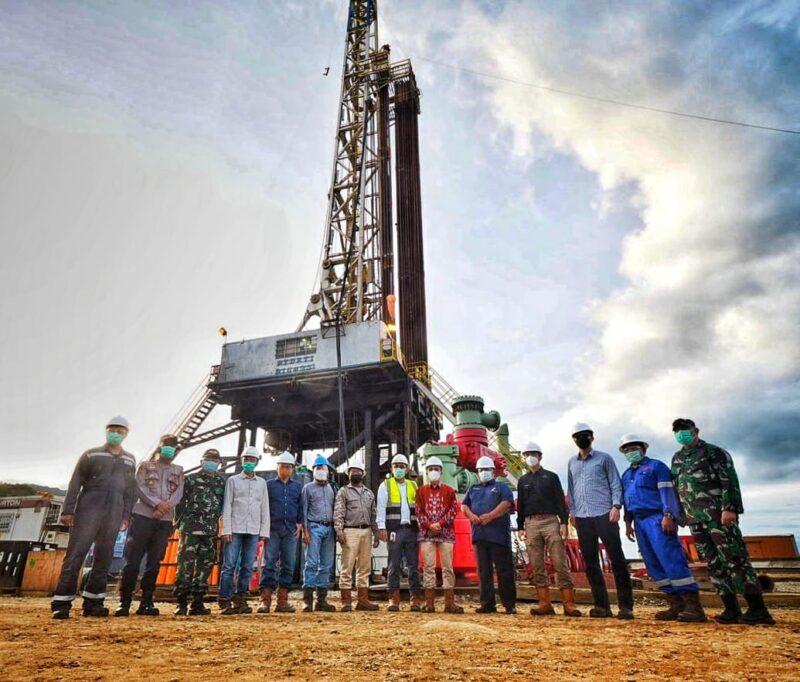 FOTO : Peninjauan Perkembangan Terkini Aktifitas Perusahhan Panas Bumi PT Sorik Marapi Geothermal Power di Penyabungan Mandailing Natal, Kamis (25/02/21)
