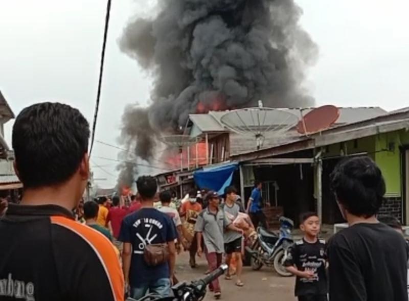 FOTO : Tangkapan Layar Saat Terjadinya Kebakaran