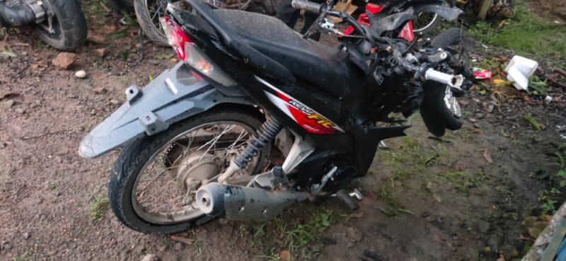 Motor Korban Yang Mengakami Kecelakaan. FOTO : Istimewa