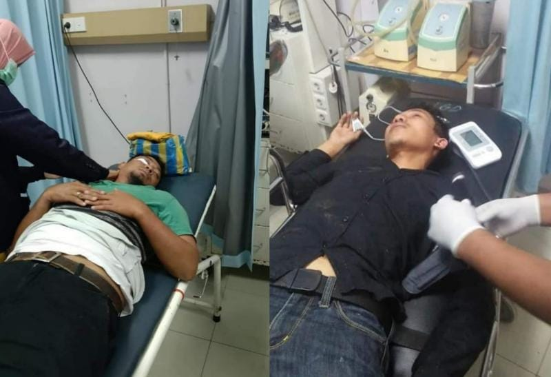 Kedua Wartawan Korban Pengeroyokan Jalani Perawatan Medis di RS Bungo. FOTO : Istimewa