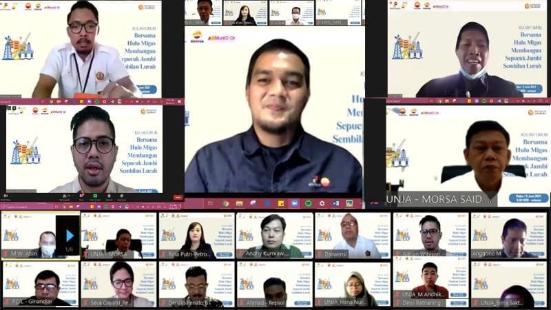 SKK Migas-PetroChina International Jabung Ltd. menggelar kuliah umum Virtual bersama KKKS yakni Repsol dan MontD'Or serta Universitas Jambi, Rabu (09/06/21).