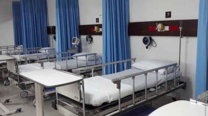 Ilustrasi Keterisian tempat tidur (bed occupancy rate/BOR) rumah sakit rujukan Covid-19. FOTO : Istimewa.