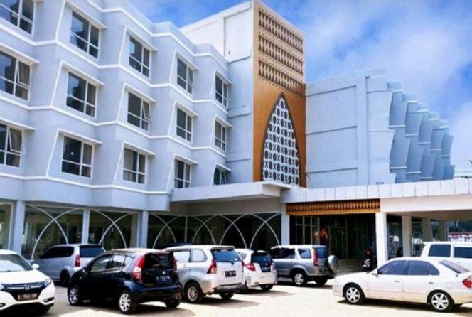 Gedung Asrama Haji yang berlokasi di Pondok Gede. FOTO : Istimewa