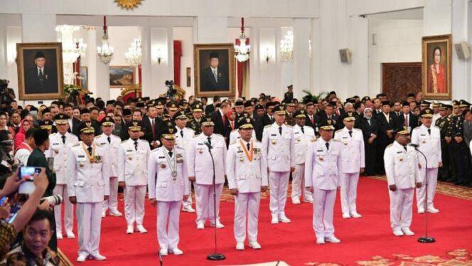 Pelantikan para Gubernur Terpilih Masa Jabatan 2018-2023 oleh Presiden RI Joko Widodo di Istana Negara, Jakarta, Rabu (05/9/18). FOTO : BERITABAIK.ID